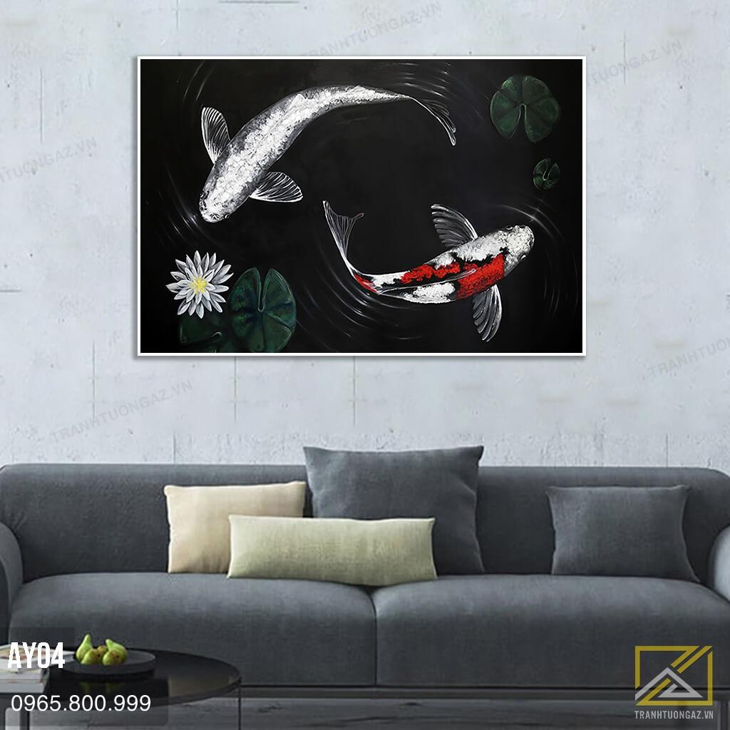 Tranh Song Ngư Huyền Bí - AY04 - 1