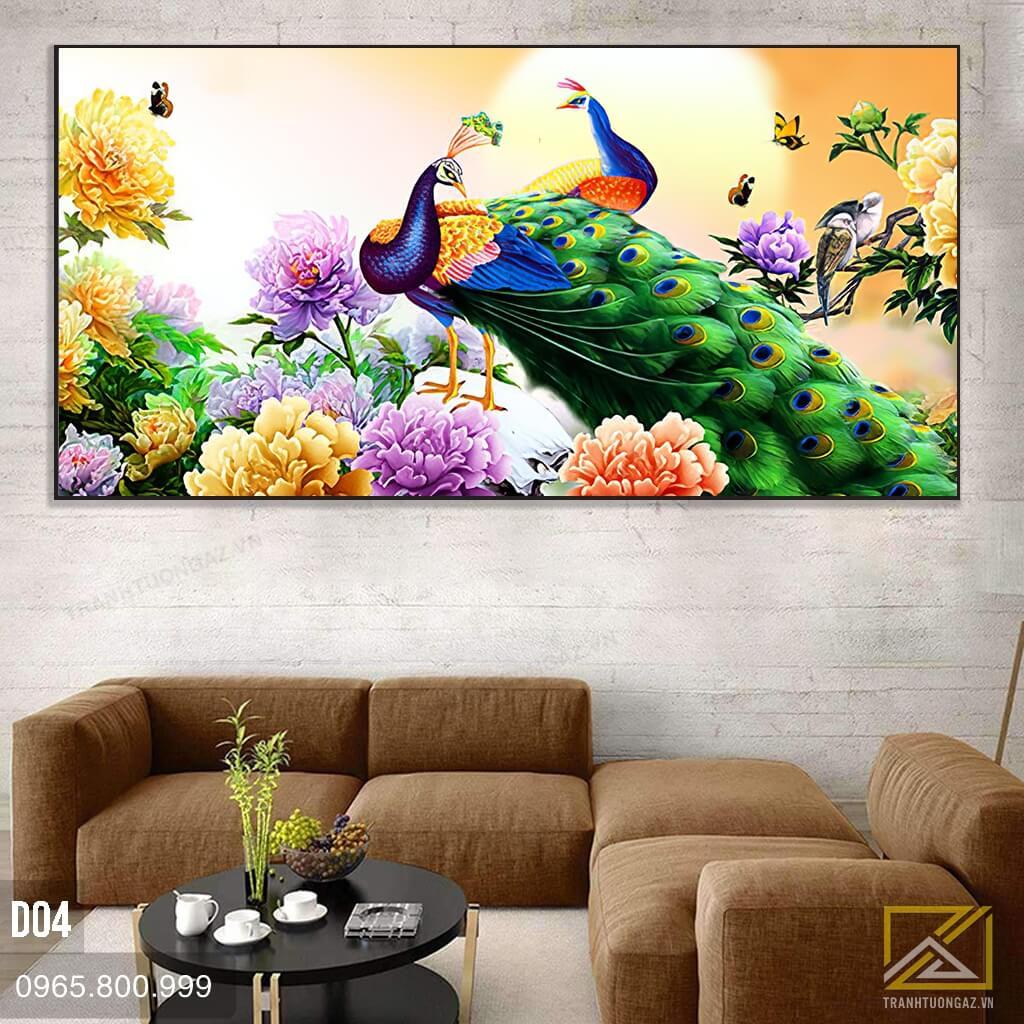 tranh chim công d04 - 3
