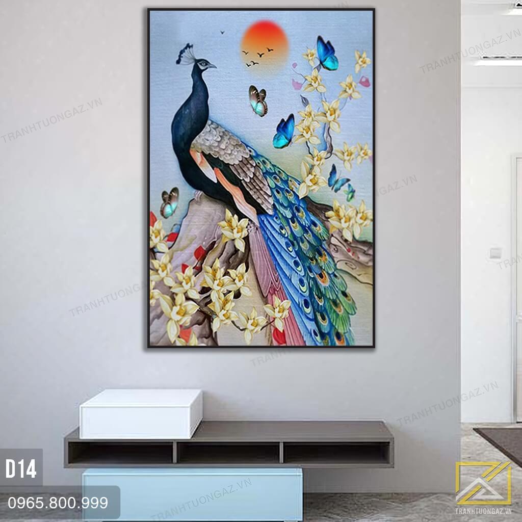 tranh chim công d14 - 3