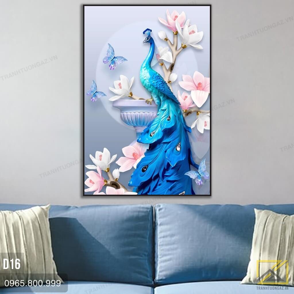 tranh chim công d16 - 2