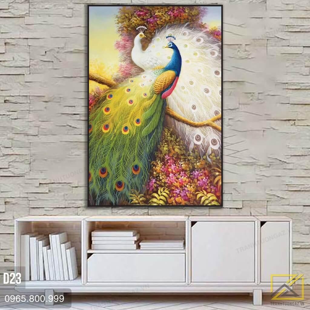 tranh chim công d23 - 1