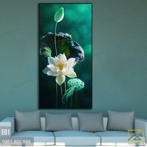 tranh hoa sen e01 - 2
