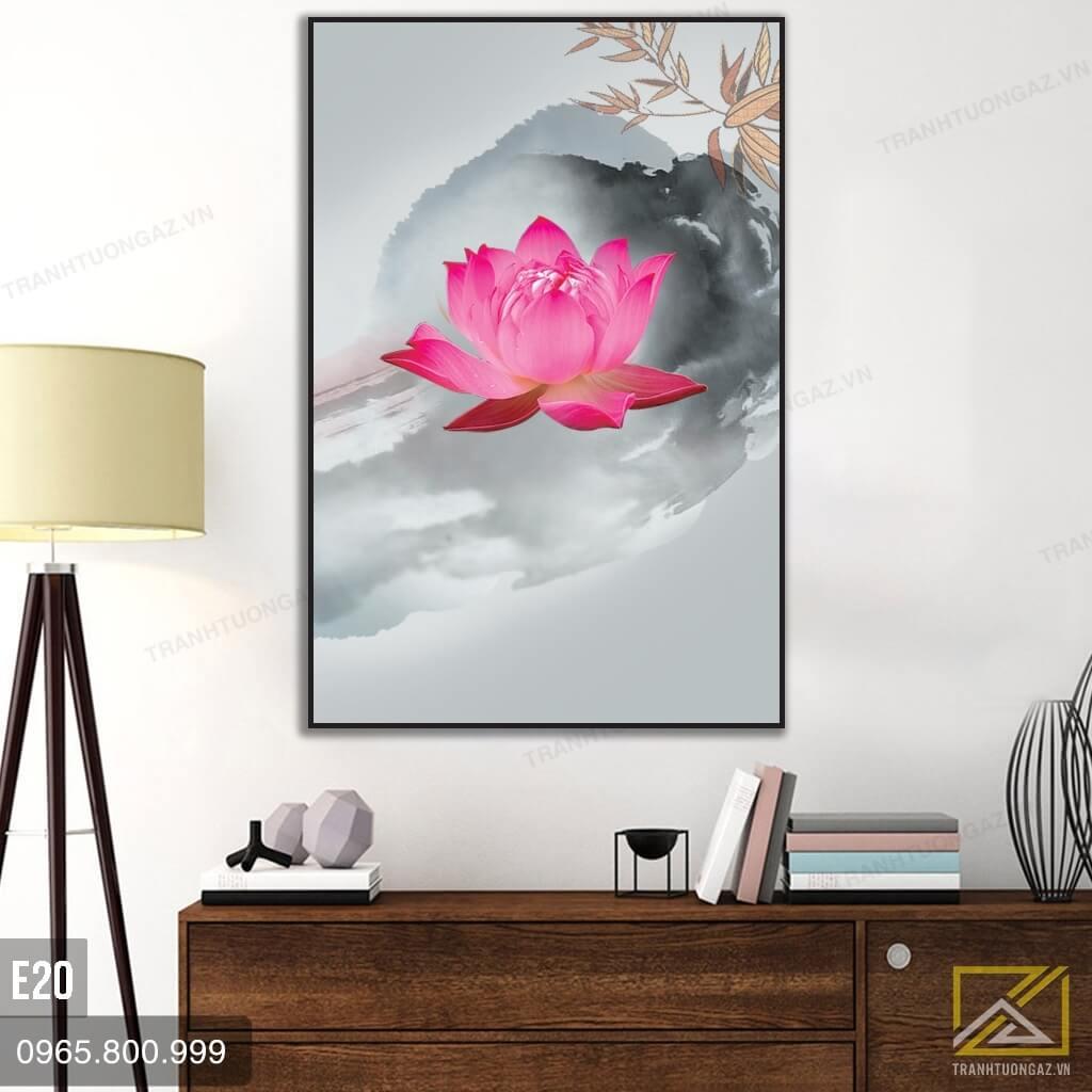 tranh hoa sen e20 - 1