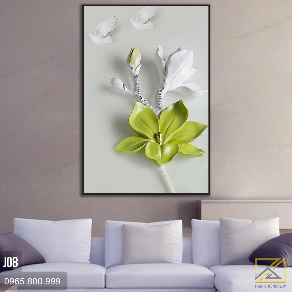 Tranh hoa lan J08 - 2