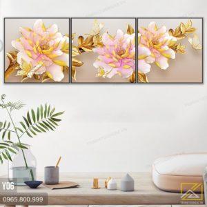tranh hoa mau don - y06 - 2