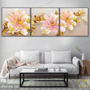 tranh hoa mau don - y06 - 1