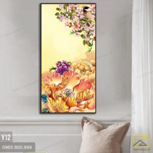 tranh hoa mau 3on - y12 - 1