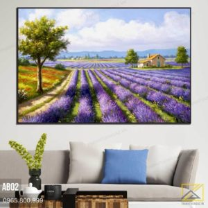 Tranh Cánh Đồng Lavender - AB02 3
