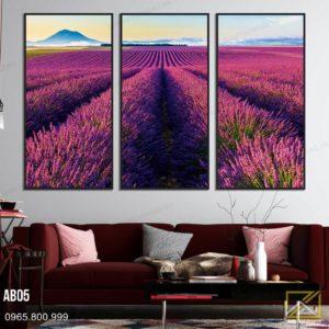 Tranh Cánh Đồng Hoa Lavender Thủy Chung - AB05 1