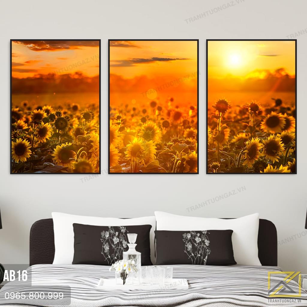 Tranh Vườn Hoa Hướng Dương Dưới Ánh Mặt Trời - AB16 1