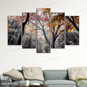 Tranh Phong Cảnh Rừng Cây Thiên Nhiên Mùa Thu - AC072