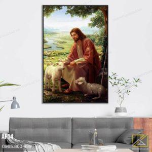 Tranh Chúa Giêsu Và Con Chiên Lạc - AF14 3