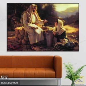 Tranh Cuộc Gặp Gỡ Giữa Chúa Giêsu Và Người Phụ Nữ Bên Giếng Gia - Cóp - AF17 1
