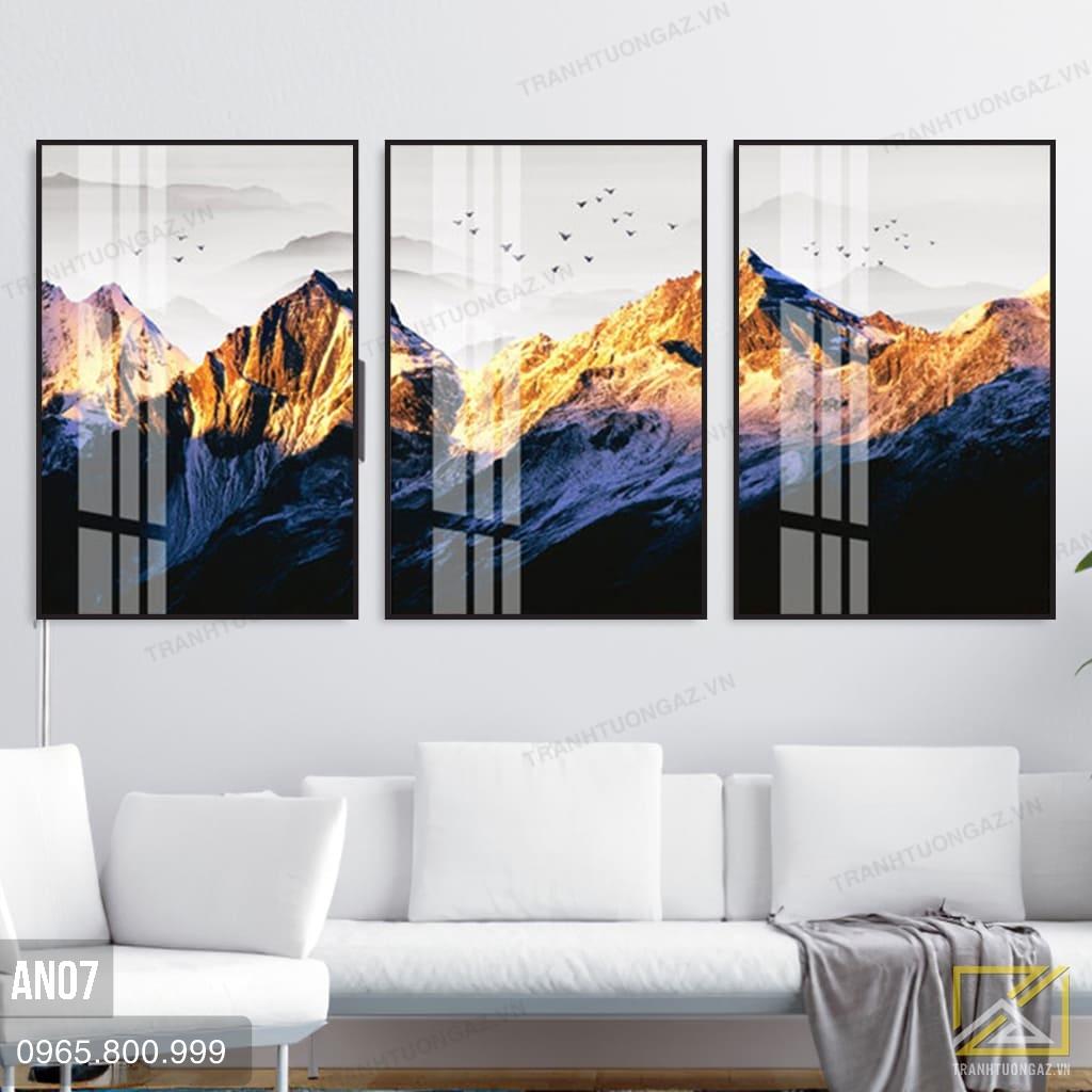Tranh Núi Rừng Dưới Ánh Chiều Vàng - AN071