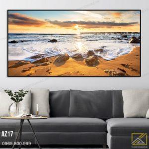 Tranh Biển Bạc Hòa Cát Vàng - AZ17 1