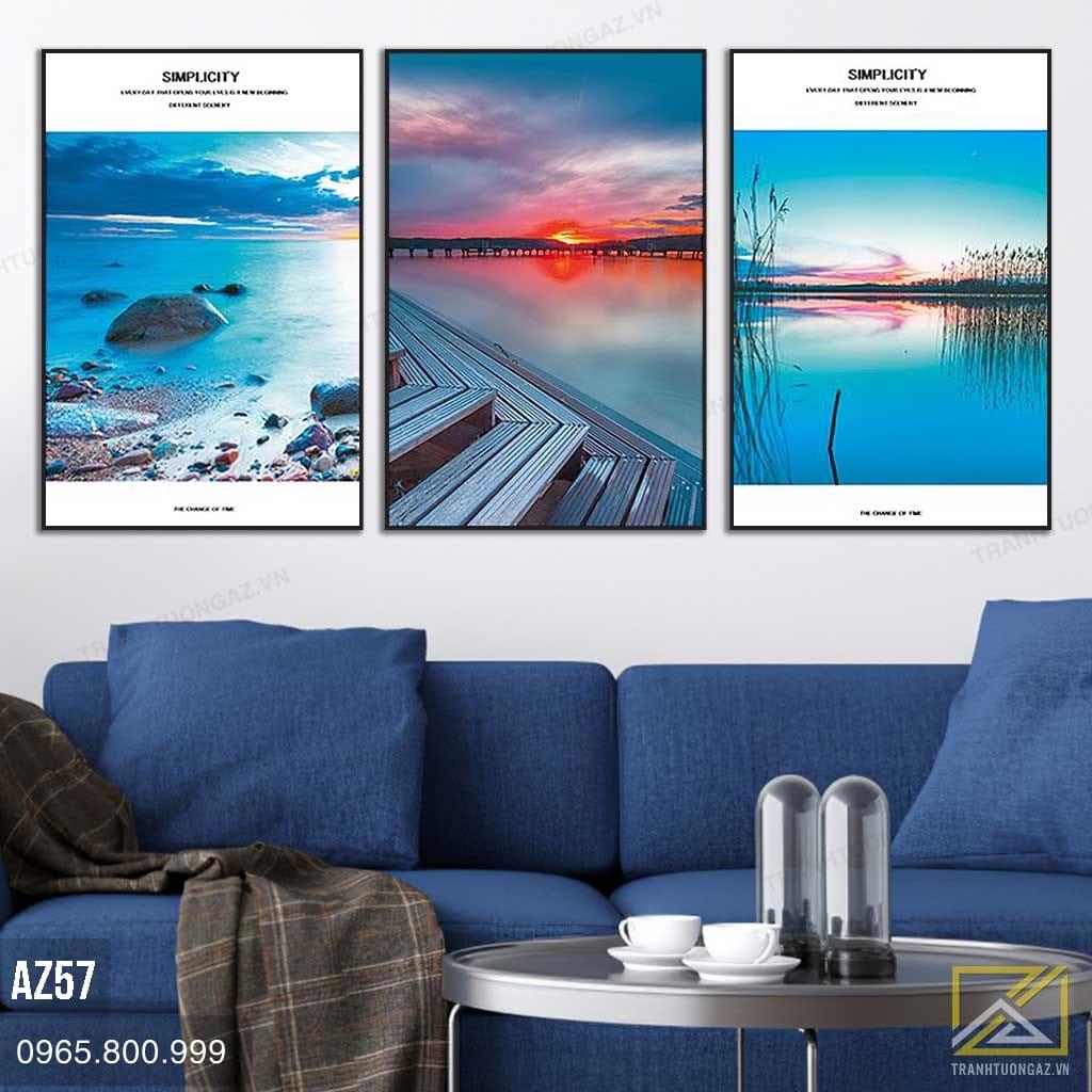 Tranh Phong Cảnh Biển Lúc Hoàng Hôn - AZ57 2