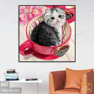 Tranh Mèo - BA27 1