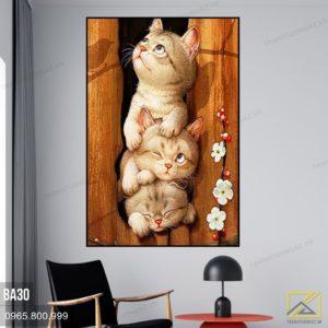 Tranh Mèo - BA30 1