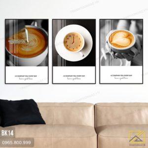 Tranh Bộ 3 Cafe Sữa Tạo Hình - BK14 2