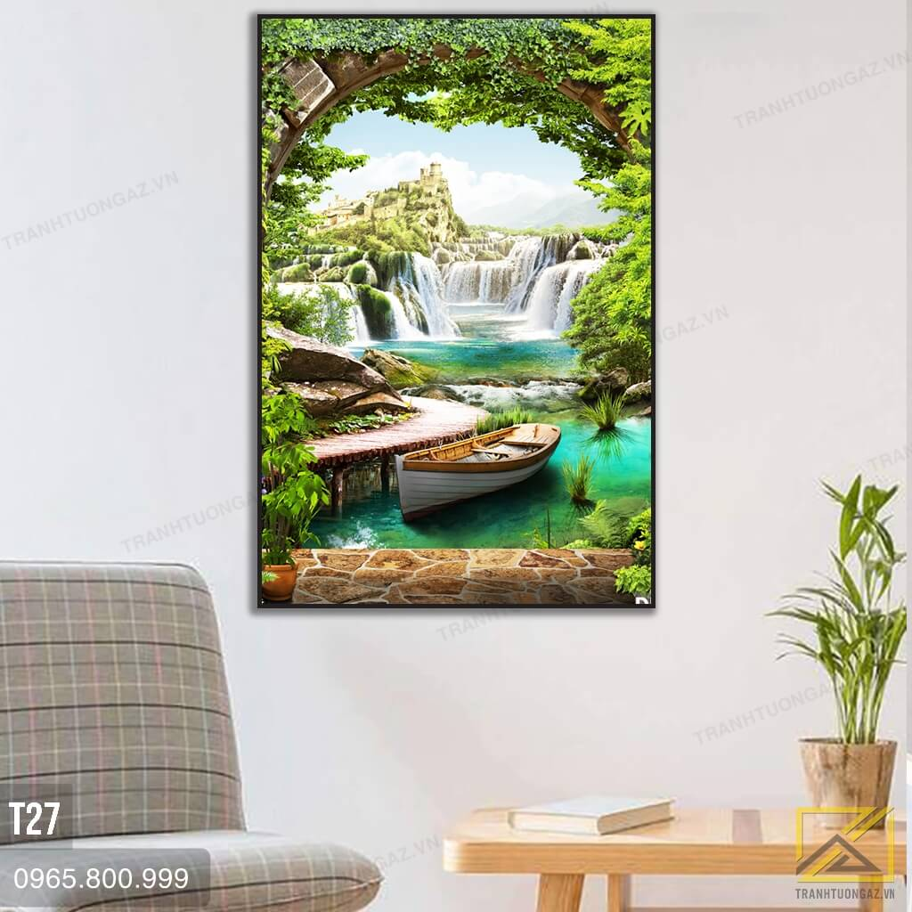 Tranh Phong Cả̉nh Thiên Nhiên Tươi Mát - T27 3