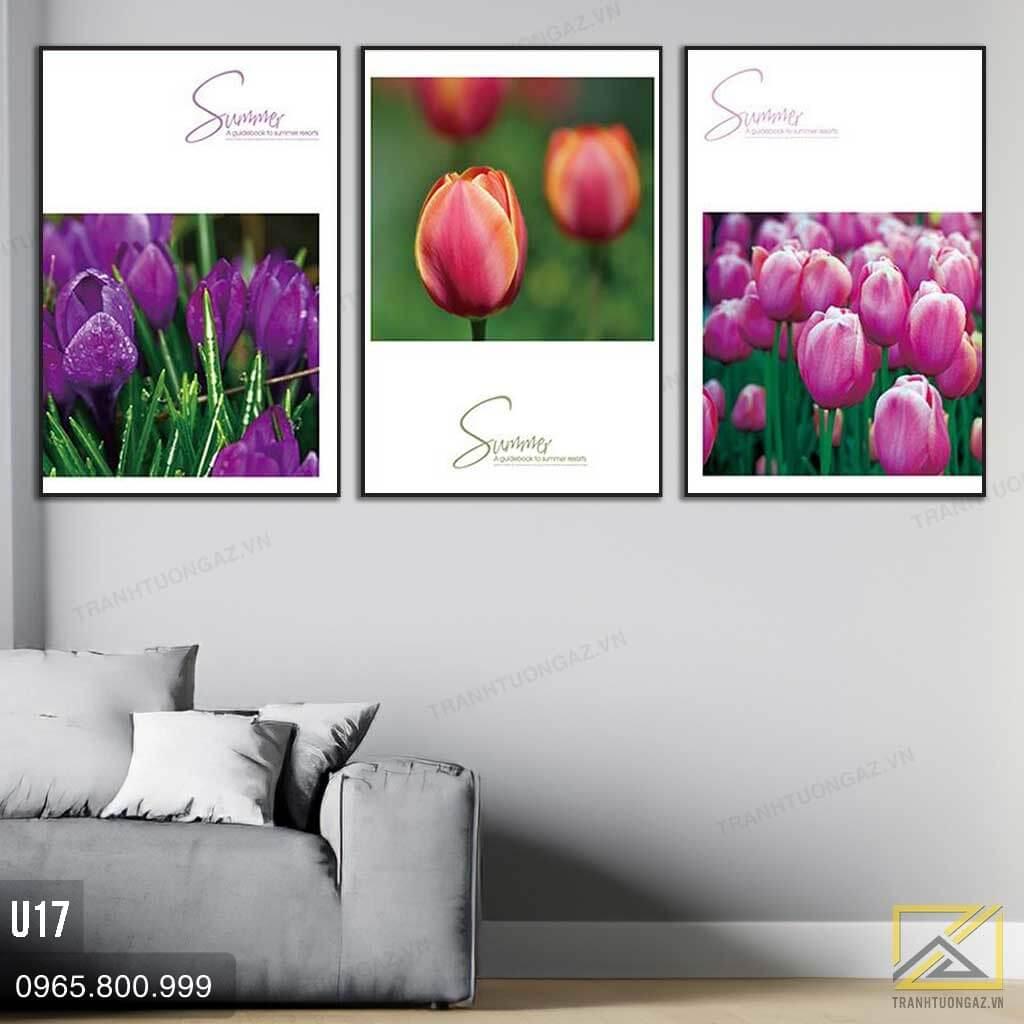 Tranh Bộ 3 Hoa Tulip Thiết Kế - U17 2