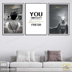 Tranh Chân Dung Cô Gái Cá Tính - AQ50 3