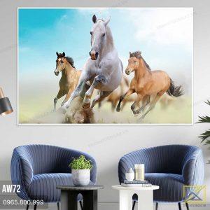 Tranh Ba Chú Ngựa Thi Đấu - AW72 2